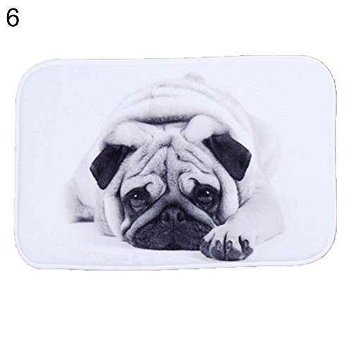 - yanQxIzbiu capet&Rugs, Cartoon Animal/Letters Pattern Floor Mat, Anti-Slip Coral Velvet Bathroom Doormat 6#
