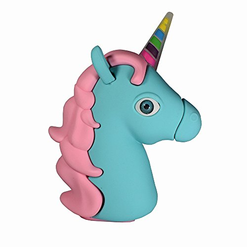 unicorn emoji charger (pink+blue)