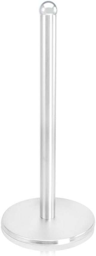 01 pieza - acero inoxidable - negro 34 cm portarrollos de acero inoxidable sin taladrar portarrollos de papel para la cocina COM-FOUR/® Portarrollos de cocina de pie en negro