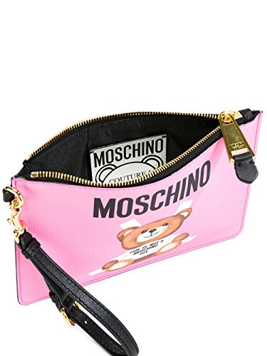 MOSCHINO FEMME A843182101239 ROSE CUIR POCHETTE