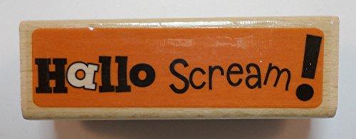 Studio G Hallo Scream! Halloween Themed Wooden Rubber Stamp