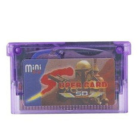 LanLan - Tarjeta Micro SD para GBA SP GBM IDS NDS NDSL, adaptador de tarjetas SD y supercard, cartucho de 2 GB para copia de seguridad de juego (con ...