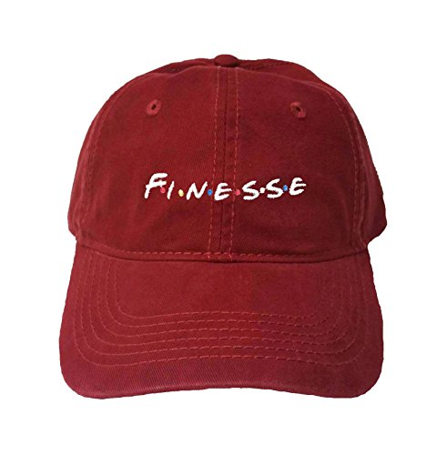 (Go All Out Adjustable Maroon Adult Finesse Embroidered Dad Hat)