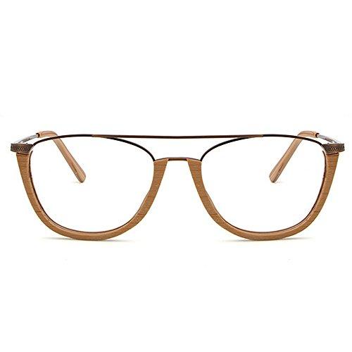 madera de sol con unisex montura Gafas mujeres redondas Gafas sin de de gafas protección de clásicas de Hombres Retro semi sol conducción de para de Beige de esqu Gafas Gafas sol sol UV Gafas de playa sol 8qESZS
