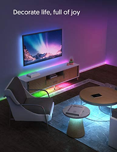 LED Strip Lights,16.4ft Light Strip with 150 led lighting for bed room,TECKIN Waterproof Color Changing 5050 RGB LED Tape Lights with Remote for Home Lighting,Kitchen,TV,Party,DIY and Bar Home Decoration