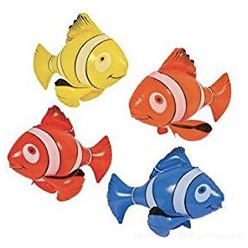 4 Colorful Inflatable Clownfish 36