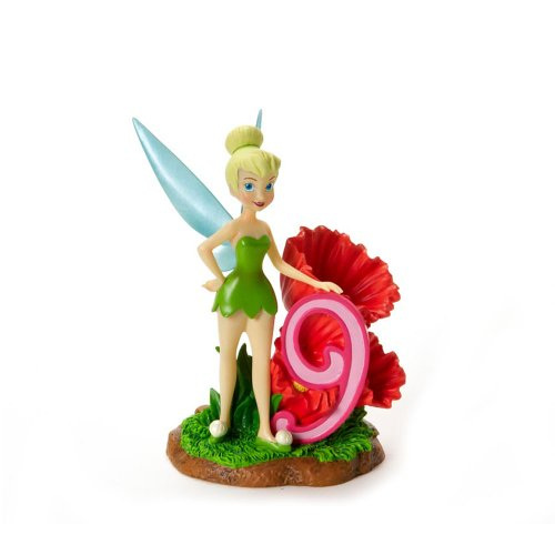 Disney Showcase Collection Tinkerbell Birthday Figurine, Age 9, 4-1/4-Inch
