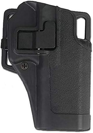 Funda Softair de cinturón rígida Serpa Derecha Glock G17 G22 Negra - EM6097G