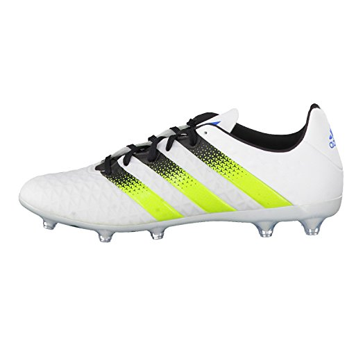 adidas Herren Fussballschuhe ACE 16.2 FG/AG ftwr white/semi solar slime/shock mint s16 40
