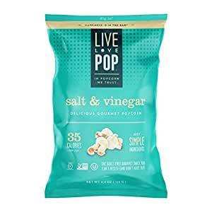 Live Love Pop Salt & Vinegar Popcorn 4.4 oz. (12 pack)