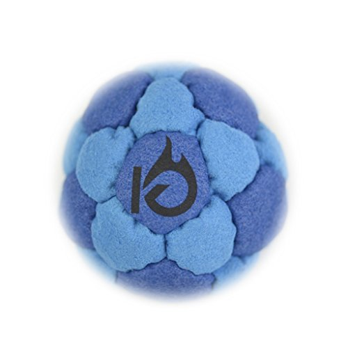 KickFire SuperSacks Ocean Swell Sand Filled Hacky Sack 16 Panel Leather Footbag | BONUS Video Quick Start Tips | Best for Kids, Teens and Adults by KickFire Classics