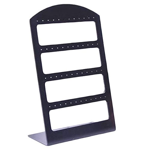 6pcs/lot 48 Holes Earrings Ear Studs Jewelry Show Plastic Display Rack Stand Organizer Holder Christmas (Black)