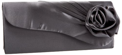 Jessica McClintock 9051870 Flowers Clutch,Pewter,one size, Bags Central