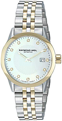 (Raymond Weil Women's Freelancer Ladies Quartz Watch with Stainless-Steel Strap, Silver, 14.75 (Model: 5629-STP-97081))