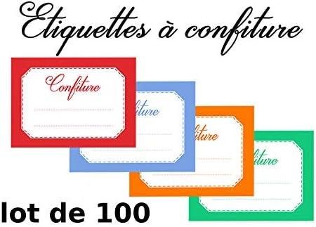 Mon Bio Jardin 100 Etiquetas 4 Colores Mermelada para Mermelada casa: Amazon.es: Hogar