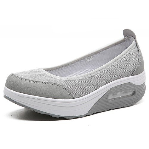 NGRDX&G Zapatos Ocasionales Femeninos Femenino Plataforma Entidad Moda Zapatos Deportivos Zapatos Transpirables Zapatos De Mujer Zapatos Vulcanizados gray