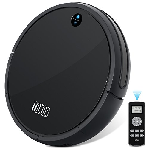 TONOR Robotic Vacuum Cleaner Sweeper, Updated Auto Charging/Large Suction/Infrared Sensor/Drop Sensing RoboVac for Household Pet Fur Allergens Hard Floor Rug Carpet