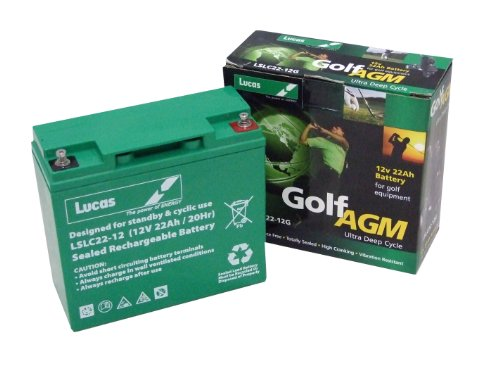 Lucas Golf Battery 22Ah suitable for Hillbilly Electric Trolley