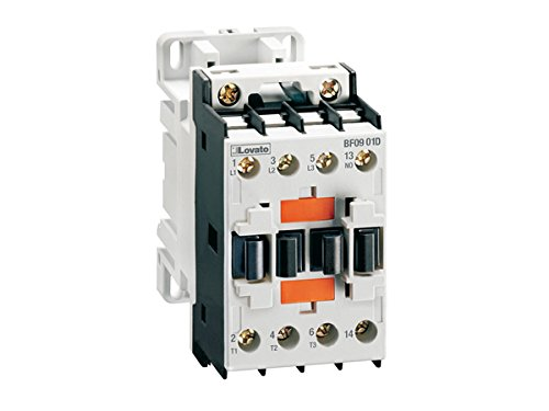 - Lovato Electric BF1810A12060 Three-Pole Contactor, Iec Operating Current Ie (Ac3) = 18A, Ac Coil 60Hz, 120Vac, 1No Auxiliary Contact