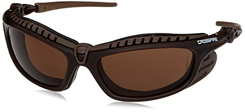 Crossfire Safety Glasses Eclipse HD Brown Anti-Fog Lens Crys