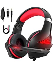 Beexcellent PS4 Headset with Mic, Xbox One Headset with Microphone, PC Gaming Headset for Windows and Mac OS PC, Computer Game Headphones
