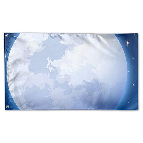 BINGOGING FLAG Decorative House Flags - Full Moon Outdoor Se