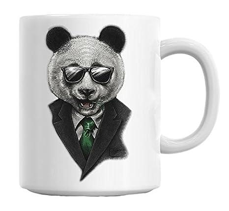 Amazon.com: Smart Sharp Panda en traje y corbata Funny Taza ...