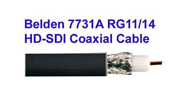 Amazon.com: Belden 7731A RG11/14 HD-SDI Coaxial Cable: Home Audio & Theater