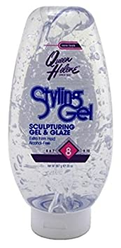 QUEEN HELENE Helene Sculpturing Hair Styling Gel Glaze, Alcohol Free 20 oz Pack of 6