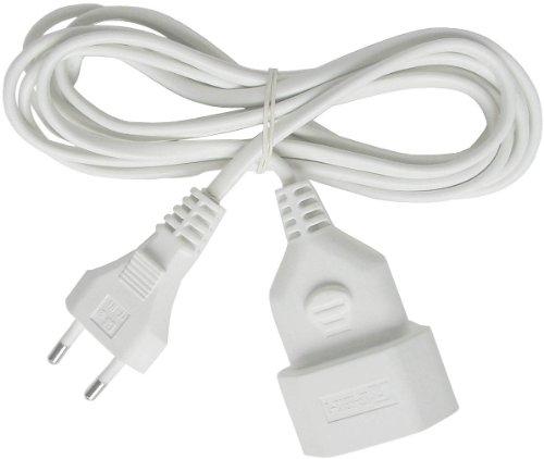Brennenstuhl kunststof verlengkabel (voor binnen, 5 m kabel, met Euro-stekker en koppeling) wit