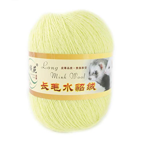 Fanct Soft Mink Wool Hand-Knitted Long-Wool Cashmere Crochet Knitted Yarn Suitable for Autumn and Winter