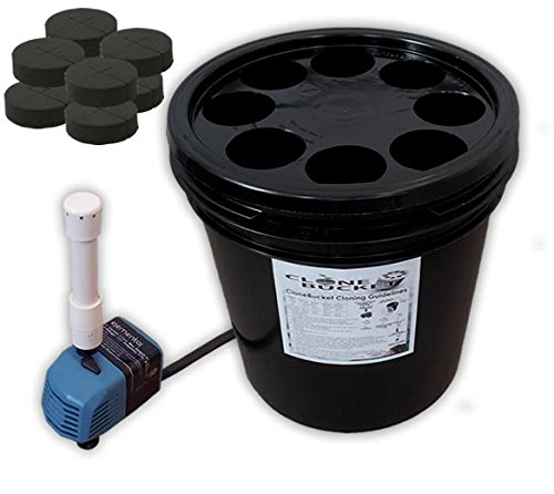 8 Site Aeroponic Plant Cloner - Clone Bucket 1.0 SM 8 site From Hydro West by Clone Bucket