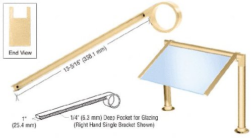 crl-brass-left-hand-single-faced-sneeze-guard-bracket