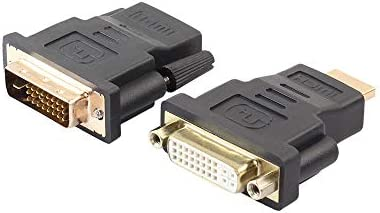 Cuxnoo HDMI DVI Adapter 2 Packs Make Your HDMI Cable or DVI Cable Work to Connect Devices Between HDMI and DVI Interfaces
