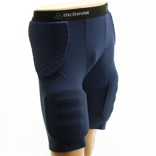 - McDavid 755T Adult Pro Hex Pad Football Girdle Compression Shorts Navy Large