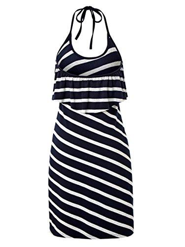 Damen by mit Jerseykleid BLUE Relevant Keine Neckholder Marineblau CONLEYS Nicht q518wx1