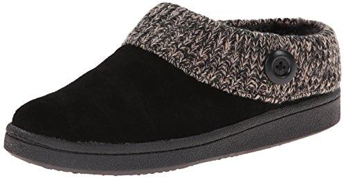 Clarks Womens Knit Scuff Slipper Mule Black