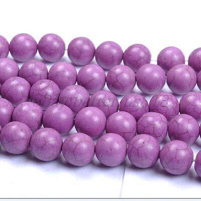- FidgetKute Purple Turquoise Round Charms Loose Spacer Beads Choose - 6MM 8MM 10MM 12MM 14MM Turquoise 6MM (50pcs Beads)