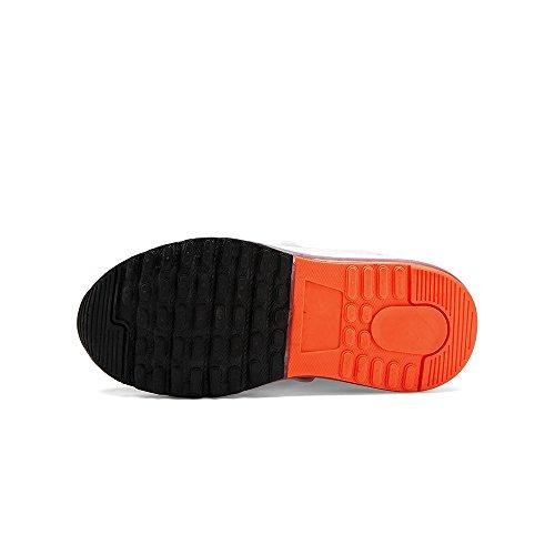 VILOCY Unisex Kinder USB Lade LED Aufhellen Jungen Mädchen Leuchtend Sneaker 6 Farbe Rot EU37