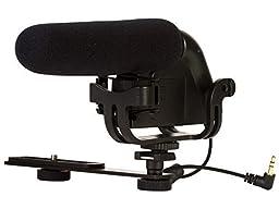 MIC-803 Camera Mounted Shotgun Microphone For Nikon DF, D500, D3000, D3200, D3300, D5100, D5200, D5300, D5500, D7000, D7100, D7200, D300, D300s, D600, D610, D700, D750, D800, D800e, D810, D810A Digital SLR Camera