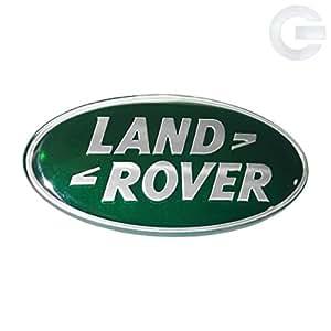 land rover range rover defender oval replacement emblem green silver automotive. Black Bedroom Furniture Sets. Home Design Ideas