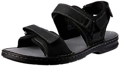 Clarks Malone Shore Men's Casual Shoe, Black Tumbled Leather G, 6 AU