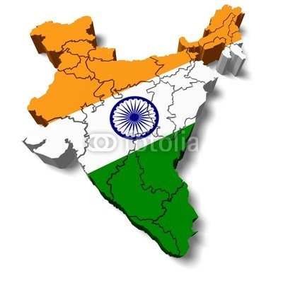 India Map Flag.India 3d India Map With Flag 82363980 Poster 30 X 30 Cm Amazon
