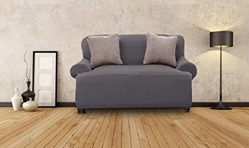 Bee & M Home Fashions Stretch Polyester & Spandex Blend Slipcover - Loveseat - Grey