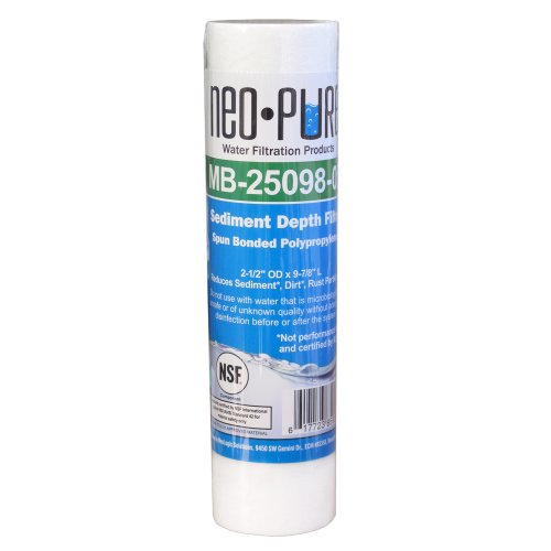 Neo-Pure MB-25098-20 9-7/8 Polypropylene Sediment Depth Water Filter 20 Mic - 50-Pack (Mic Filter Sediment)
