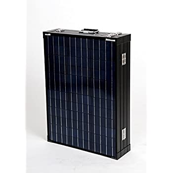 Anpowe 200W(4x50W) 12V Black Poly Portable Folding RV Solar Panel Kit With 15A Charger Controller and Anderson Plug, Alligator Clip