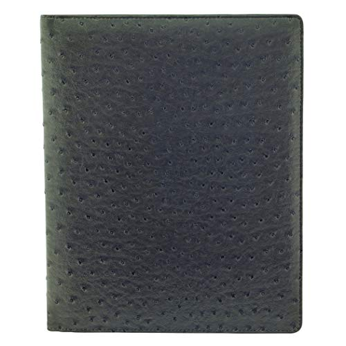 Buxton Faux Ostrich Print Writing Pad Features 2 Large Document Pockets On Inside Front Cover (ST39006.GY) ()