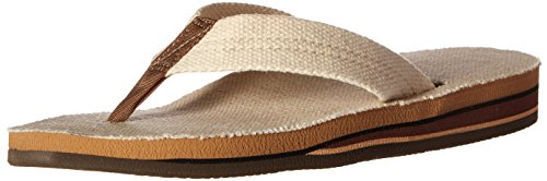 Rainbow Sandals Ladies Double Arch Wide Strap Eco sndals- natural Medium 6.5-7.5