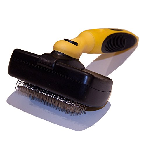 Pet Republique Slicker Brush for Cats & Dogs - Self Cleaning Mechanism - for Large to Small Dogs, Cats, Puppy, Rabbits, Any Long Haired Breed Pets – Best Dog Brush & Cat Brush for Reduce Shedding