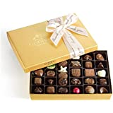 Godiva Chocolatier Assorted Chocolate Gold Gift Box, Thank You Ribbon, Chocolate Gifts, Great for Gifting, 36 Count